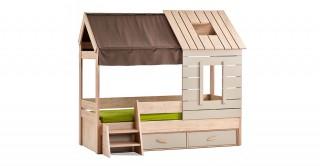 Ev Oak Kids Bed
