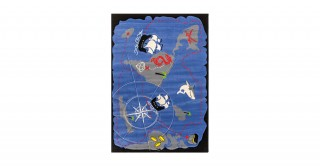 Cilek Black Pirate Kids Rug