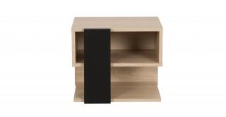 Duplex Walnut Kids Bedside Cabinet