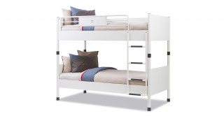 White  White Kids Bunk Bed
