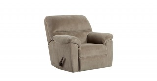 Chevron Beige Recliner