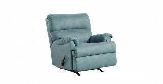 Romulus Blue Rocking Recliner