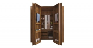 Addison Walk-In Wardrobe Coffee Oak