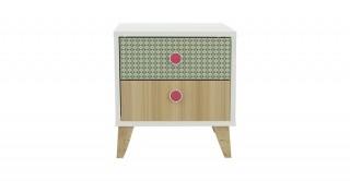 Marten Pink Kids Bedside Cabinet