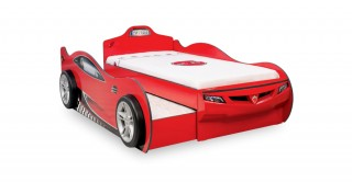 Cilek Coupe Red Kids Bed + Pullout