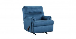 Romulus Navy Blue Rocking Recliner
