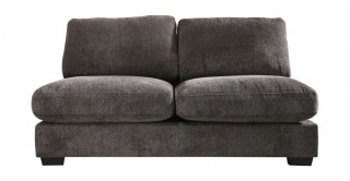 Miami 2 Seater Armless Sofa Dark Grey