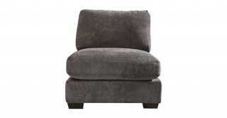 Miami 1 Seater Armless Sofa Dark Grey