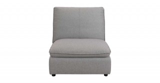 Miami 1 Seater Armless Sofa Dark Grey