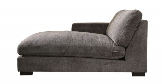 Miami Left Chaise Sofa Dark Grey