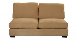 Miami 2 Seater Armless Sofa Light Brown