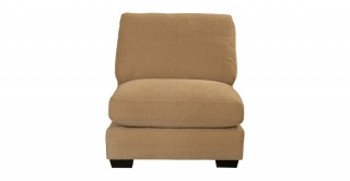 Miami 1 Seater Armless Sofa Light Brown