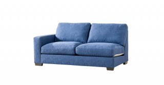 Miami 2 Seater Left Arm Sofa Dark Blue