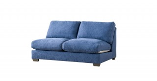 Miami 2 Seater Armless Sofa Dark Blue