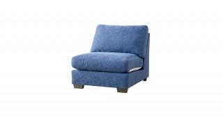 Miami 1 Seater Armless Sofa Dark Blue