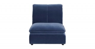 Miami 1 Seater Armless Sofa Dark Blue