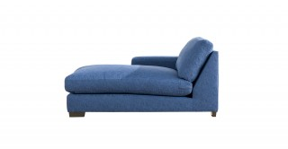 Miami Left Chaise Sofa Dark Blue