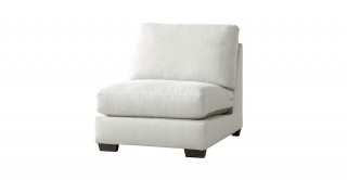 Miami 1 Seater Armless Sofa Off White