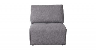 Bolonia 1 Seater Armless Sofa Grey