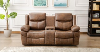 Santiago 2 Seater Sofa Brown