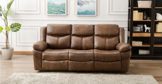 Santiago 3 Seater Sofa Brown