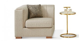 Antalya 1 Seater Left Arm Beige Sofa