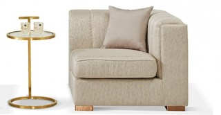 Antalya 1 Seater Right Arm Beige Sofa