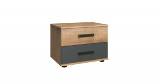Malmoe Bedside Cabinet, 2 Pieces