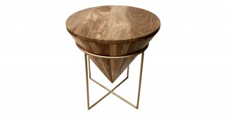 Cone Gold Stool