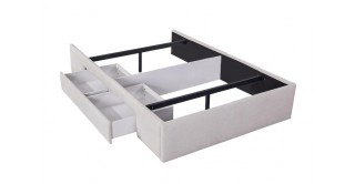 Bed Base With 1 Drawer 120X200 Beige