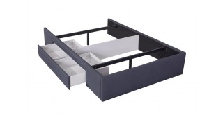 Bed Base With 1 Drawer 140X200 Dark Grey