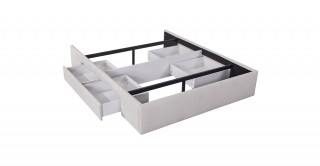Bed Base With 2 Drawers 180X200 Beige
