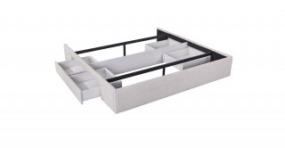 Bed Base With 2 Drawers 200X200 Beige