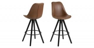 Dima Bar Chair, Brown