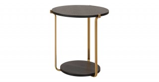 Como End Table - Black Oak/Gold