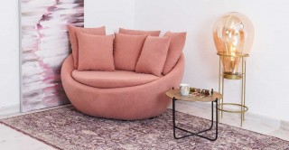 Ronda 1 Seater Arm Chair, Pink
