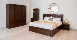 Symphony Bedroom Set With Mattress, 6 Pieces