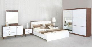 Royal Queen Bedroom Set With Wardrobe