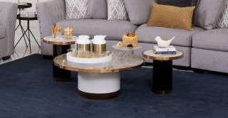 Dennes Coffee Table + 2 End Tables