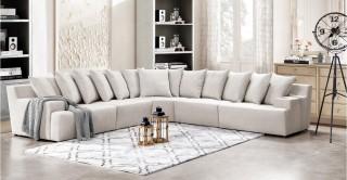 Natural Beige Corner Sofa