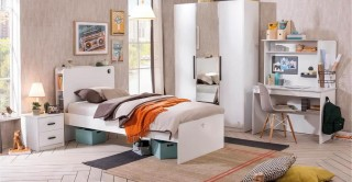 Cilek White Kids Bedroom Set