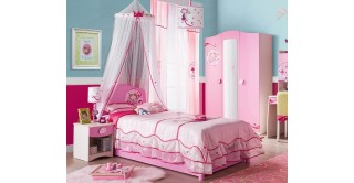 Cilek Sl Princess Pink Kids Bedroom Set