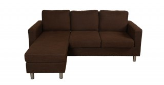 Turin Brown Corner Sofa