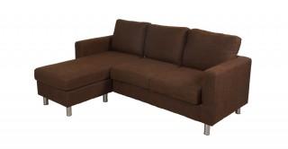 Turin Brown Corner Sofa