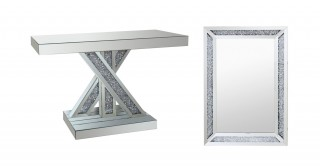 Sylvie Console With Mirror Set