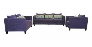 Paige Blue Sofa Set