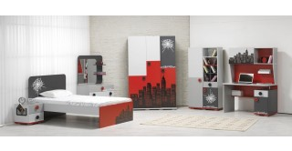 Spider Red Kids Bedroom Set
