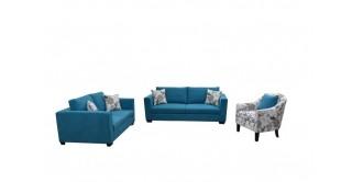 Wanoma Blue Sofa Set
