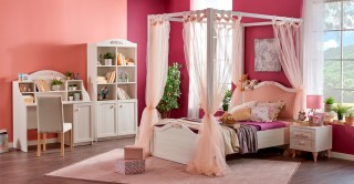 New Ariena Kids Bedroom Set With Bookcase & Studydesk