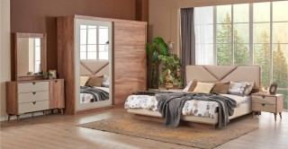 Santiago Bedroom Set With Sliding Wardrobe